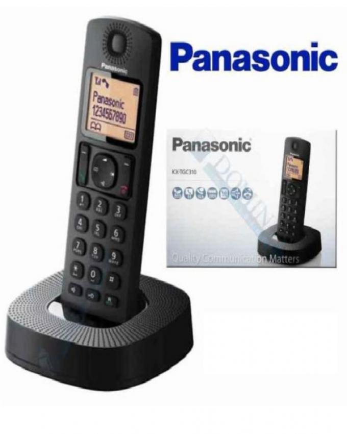 44ef91dcc79bea Panasonic Téléphone Sans Fil KX TGC 310 Avec Haut Parleur - Noir - Achat en  ligne sur Lcd Maroc