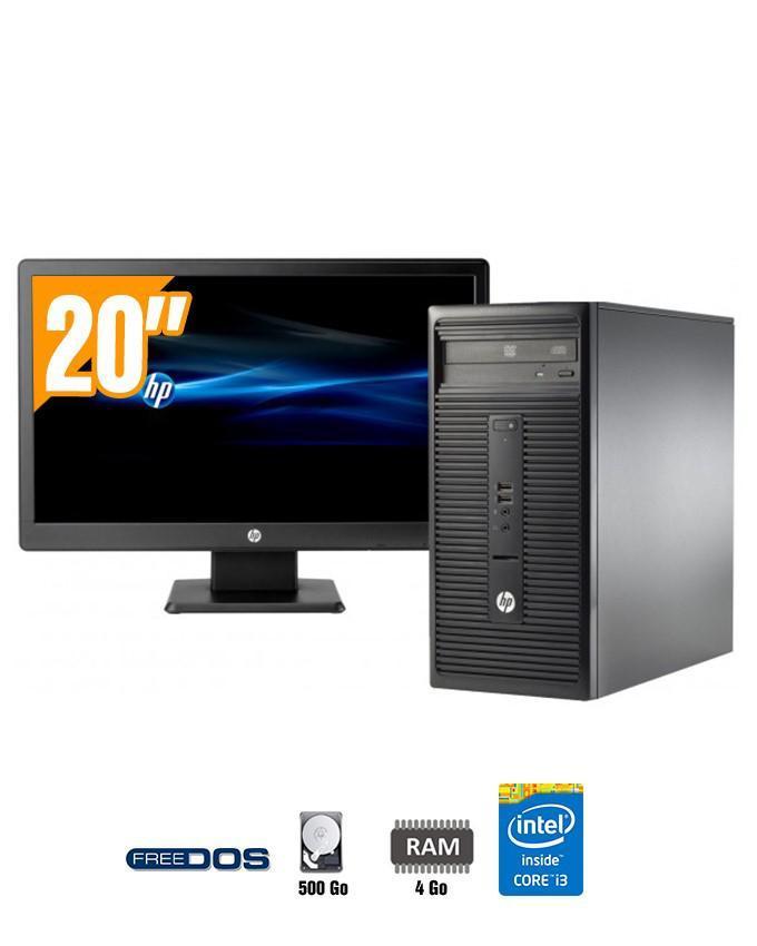 Hp pc de bureau 280 g1 mt ecran 20 core i3 500 go - Recherche ordinateur de bureau ...