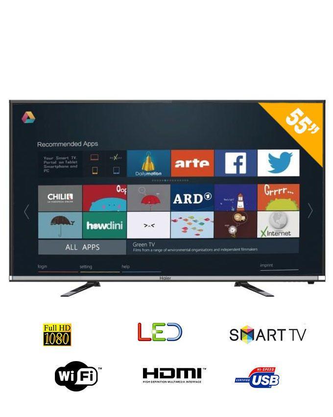 haier 55 led fullhd smart tv 55k5000a noir achat en ligne sur lcd maroc. Black Bedroom Furniture Sets. Home Design Ideas