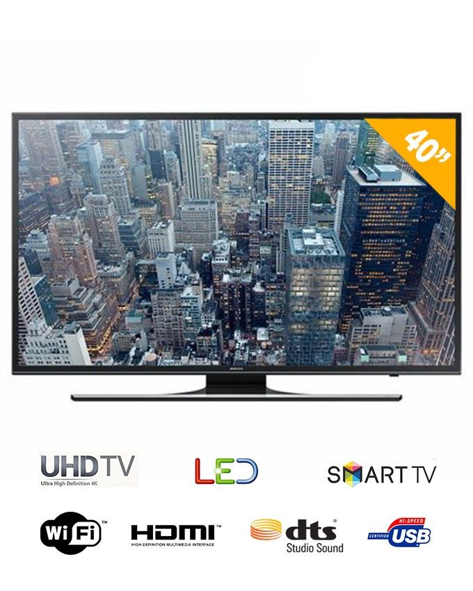 samsung 40 uhd flat smart tv 4k 40ju6470 noir achat en ligne sur lcd maroc. Black Bedroom Furniture Sets. Home Design Ideas