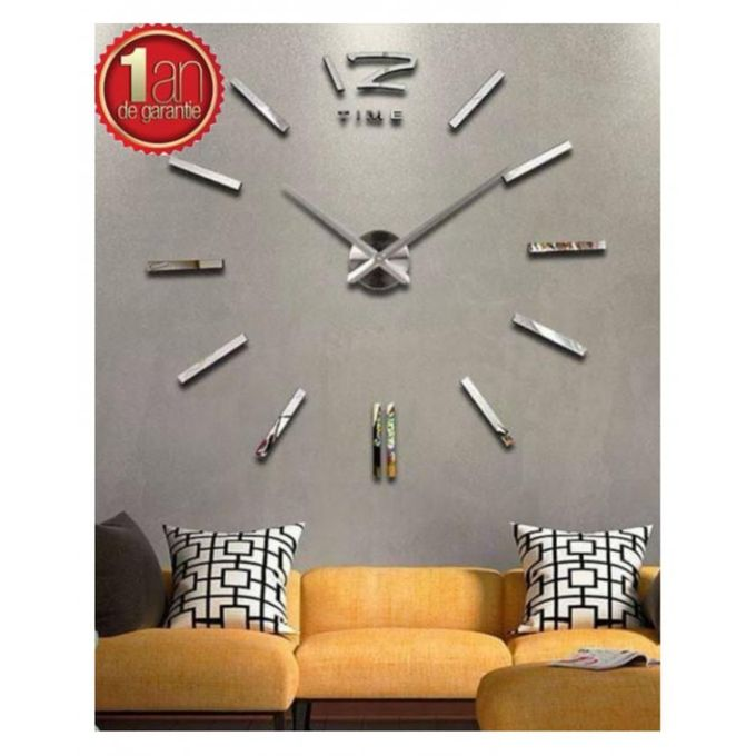 max3 horloge murale design silver achat en ligne sur lcd maroc On achat horloge murale design