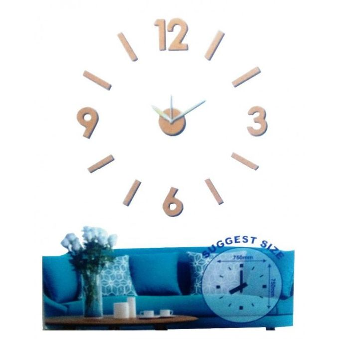 t deco horloge murale design geante silver achat en ligne sur lcd maroc. Black Bedroom Furniture Sets. Home Design Ideas