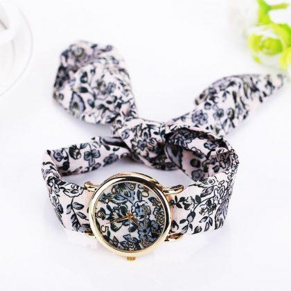 Kimo-Watch Montre Avec Bracelet en Tissu Floral - Multi-Couleurs ... 401847b5ab7