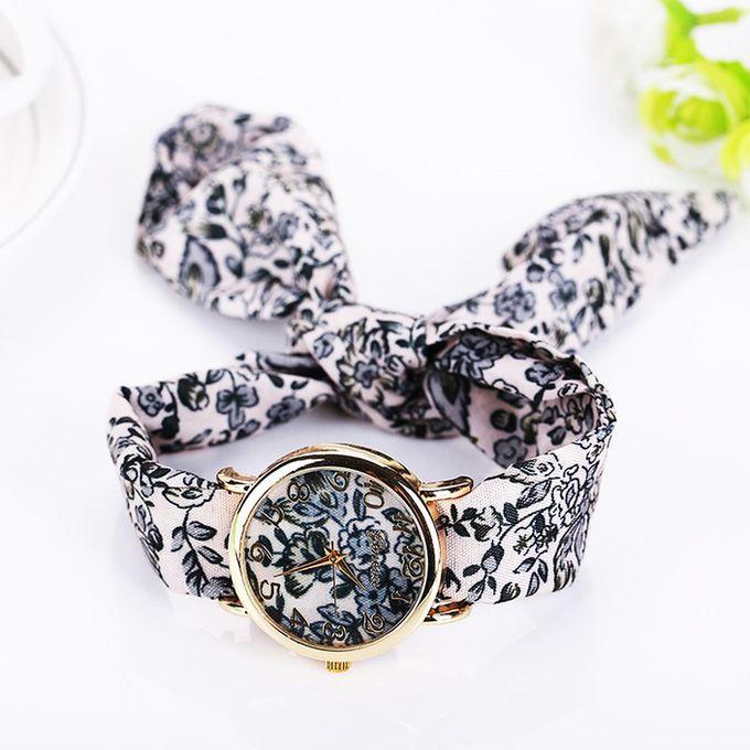 kimo watch montre avec bracelet en tissu floral multi couleurs achat en ligne sur lcd maroc. Black Bedroom Furniture Sets. Home Design Ideas