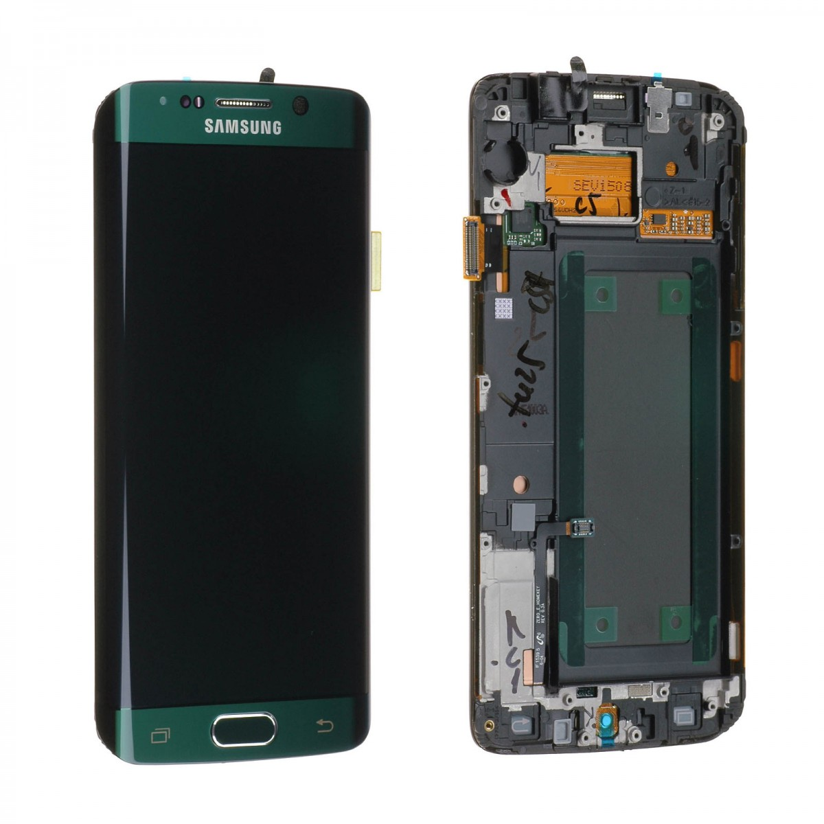 Cran complet samsung galaxy s6 edge g925f vert meraude for Samsung s6 photo ecran