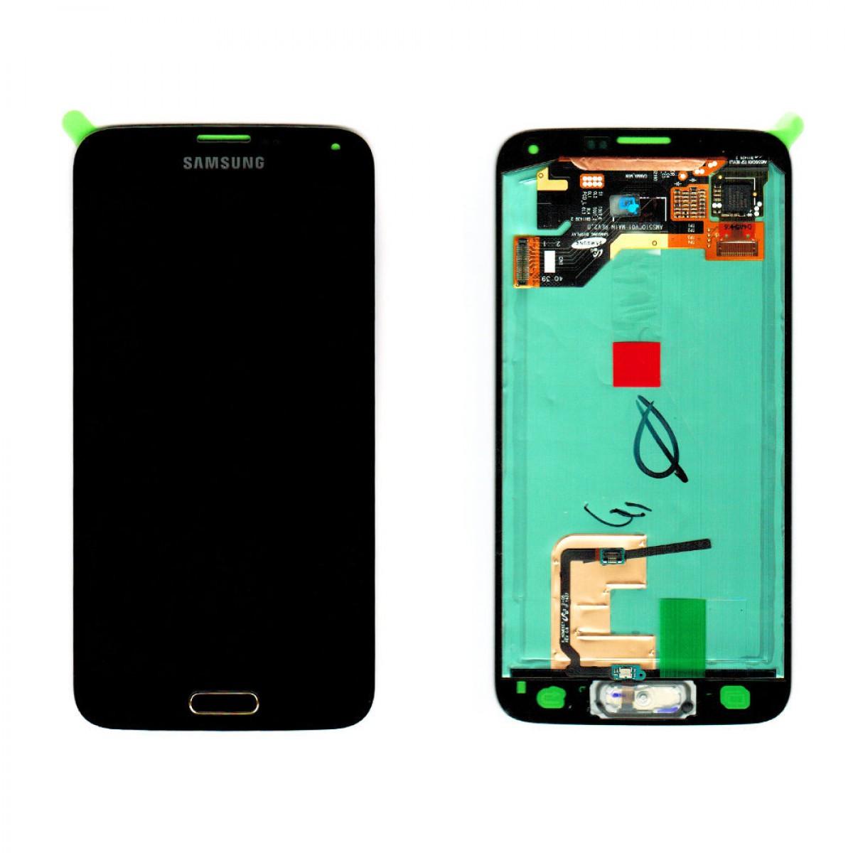 cran samsung galaxy s5 g900f or origine achat en ligne sur lcd maroc. Black Bedroom Furniture Sets. Home Design Ideas