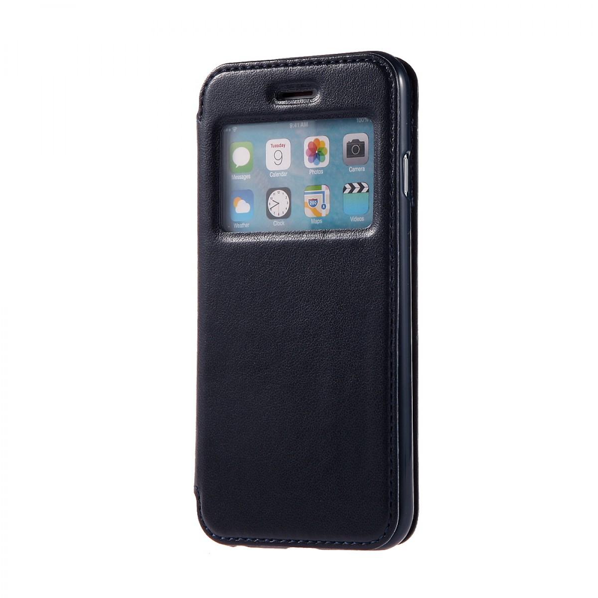 housse lisse fen tre mercury iphone 6 plus 6s plus noir achat en ligne sur lcd maroc. Black Bedroom Furniture Sets. Home Design Ideas